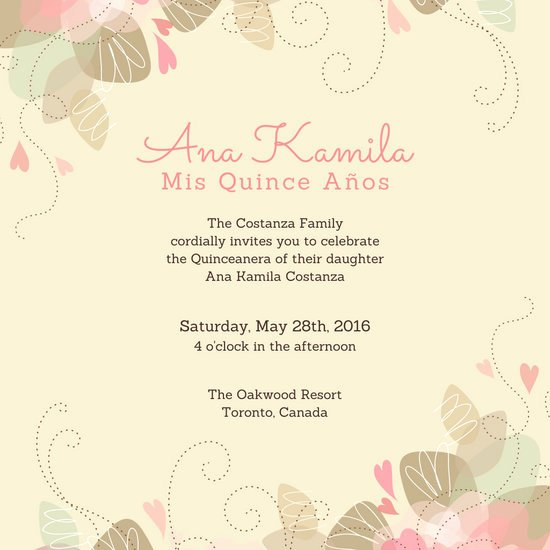 Free Quinceanera Invitation Templates Awesome Customize 39 Quinceanera Invitation Templates Online Canva