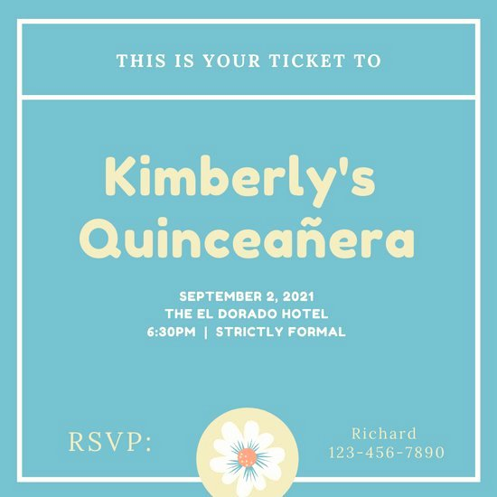 Free Quinceanera Invitation Templates Beautiful Customize 34 Quinceanera Invitation Templates Online Canva