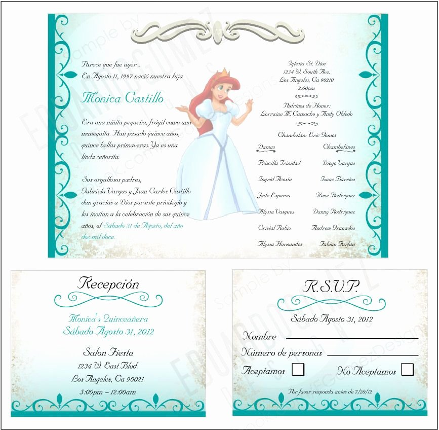 Free Quinceanera Invitation Templates Beautiful Finished Project Quinceanera Invitation