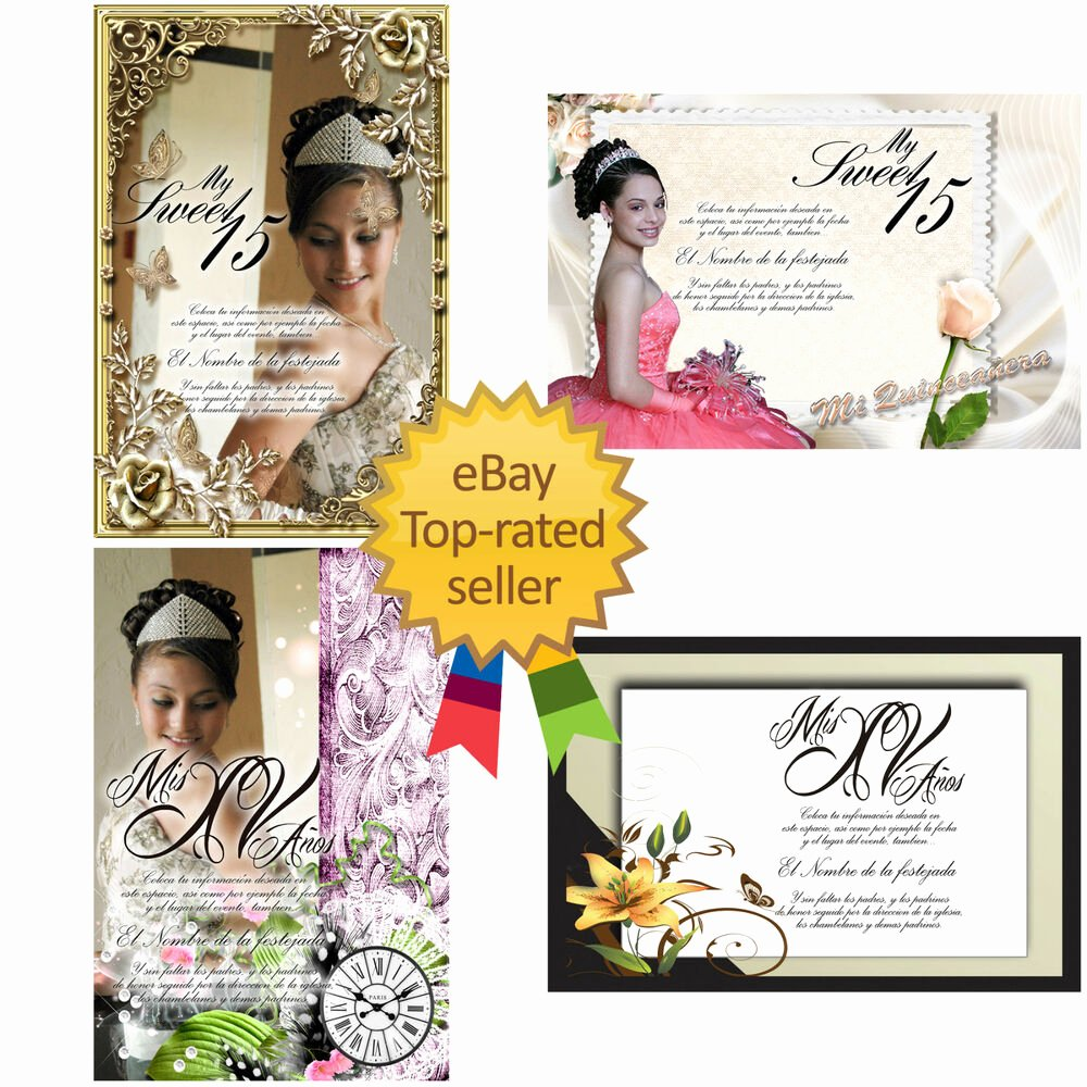 Free Quinceanera Invitation Templates Fresh Psd Shop Templates for Quinceaneras Invitations Vol 5 and Tickets