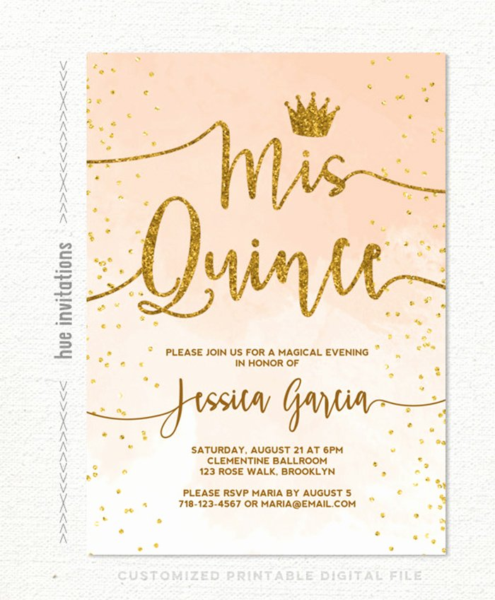 Free Quinceanera Invitation Templates Lovely 35 Beautiful and Unique Quinceanera Invitations Templates