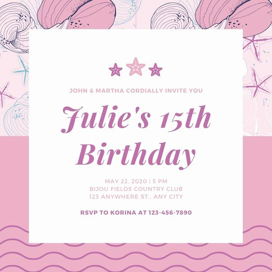 Free Quinceanera Invitation Templates Lovely Customize 34 Quinceanera Invitation Templates Online Canva