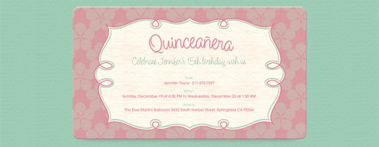 Free Quinceanera Invitation Templates New Quinceanera Free Online Invitations