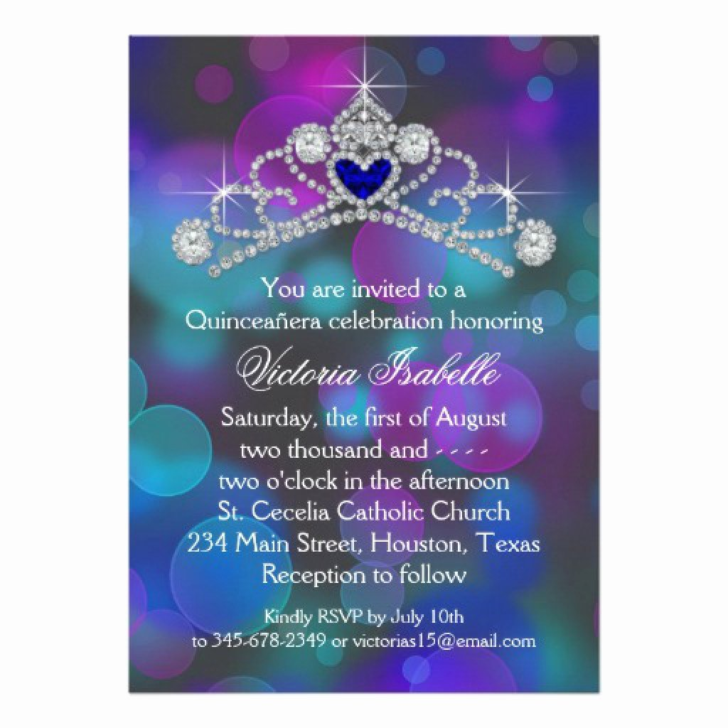 Free Quinceanera Invitation Templates Unique Free Printable Quinceanera Invitation Templates
