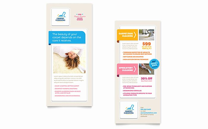 Free Rack Card Template Inspirational Carpet Cleaning Rack Card Template Word & Publisher