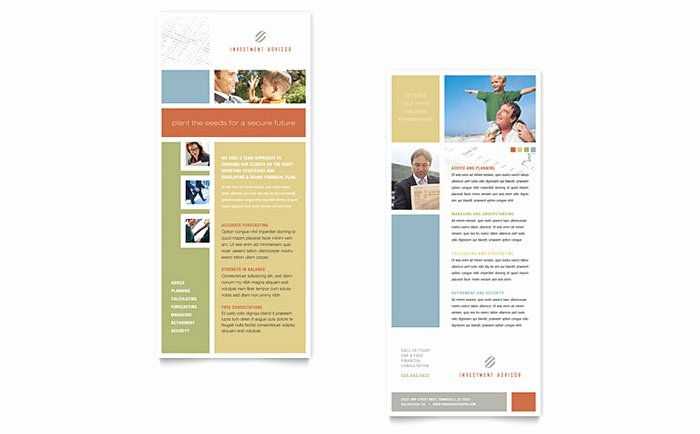 Free Rack Card Template Lovely Investment Advisor Rack Card Template Design