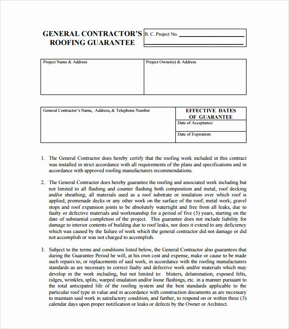 Free Residential Roofing Contract Template New Roofing Contract Template 9 Download Documents In Pdf