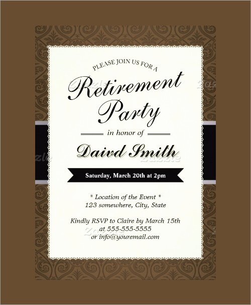 Free Retirement Flyer Templates Beautiful Free Printable Retirement Party Invitation Templates