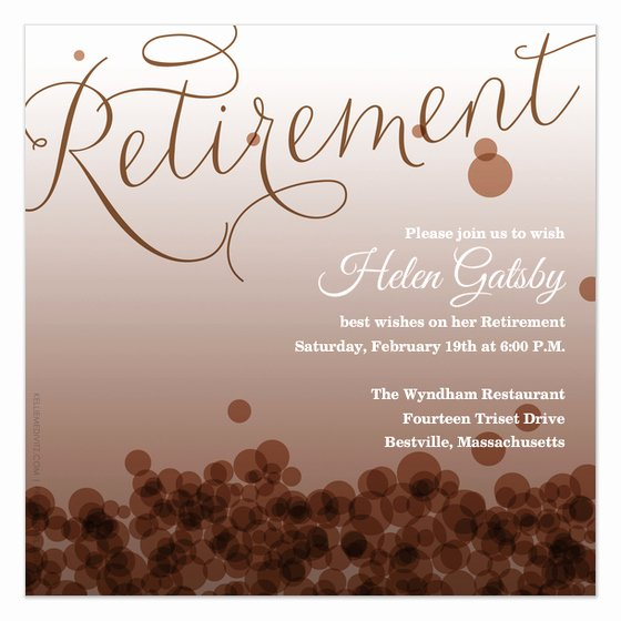 Free Retirement Flyer Templates Beautiful Retirement Invitations & Cards On Pingg