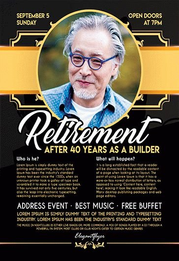 Free Retirement Flyer Templates Best Of Free Retirement Flyer Templates for Shop