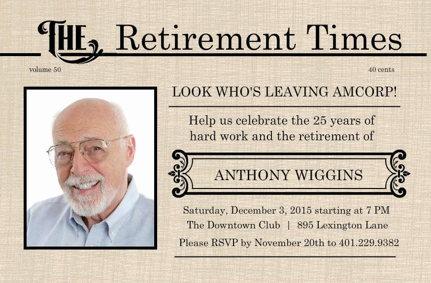 Free Retirement Flyer Templates Elegant Retirement Flyer Template Free