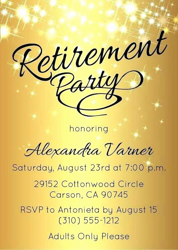 Free Retirement Flyer Templates Inspirational Retirement Party Flyer Template Free Cti Advertising