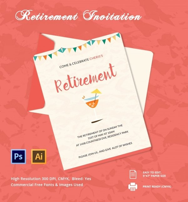 Free Retirement Flyer Templates Lovely 33 Party Invitation Templates Free Psd Vector Eps Ai format Download