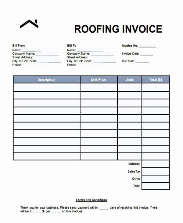 Free Roofing Estimate Template Best Of Roofing Estimate Templates