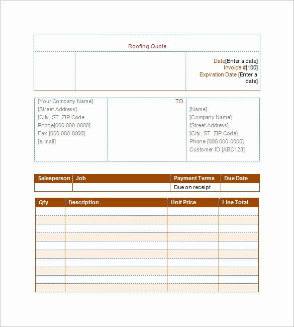 Free Roofing Estimate Template Fresh 12 Roofing Estimate Templates Pdf Docs Word