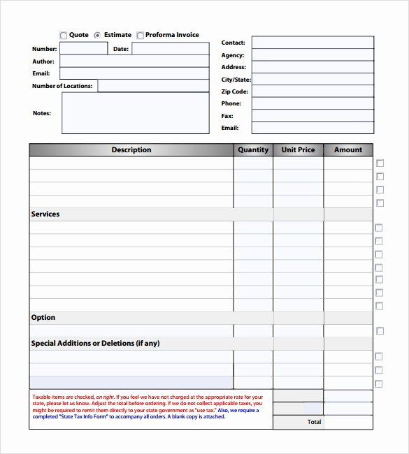 Free Roofing Estimate Template Lovely Free Printable Roofing Estimate forms