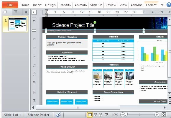 Free Science Powerpoint Templates New Science Poster Project Template for Powerpoint