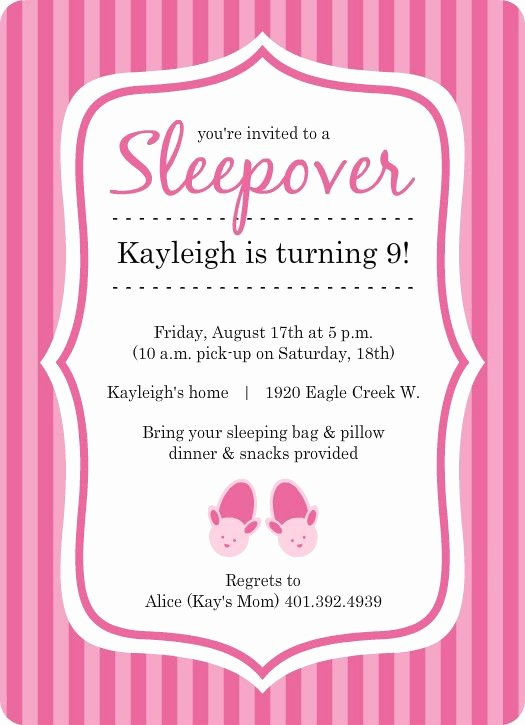 Free Sleepover Invitation Template Awesome Free Princess Birthday Slumber Party Invitations Templates Olivia Craft