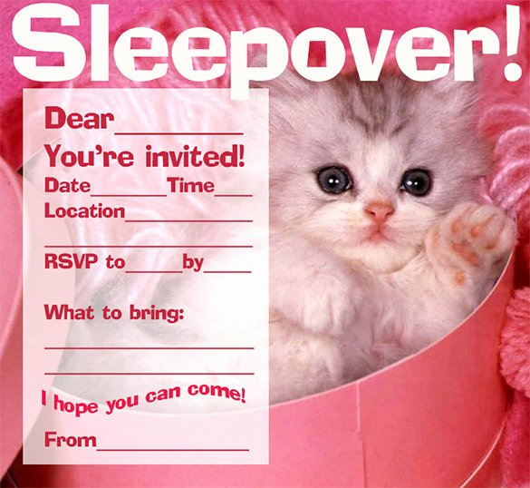 Free Sleepover Invitation Template Fresh 13 Creative Slumber Party Invitation Templates & Designs