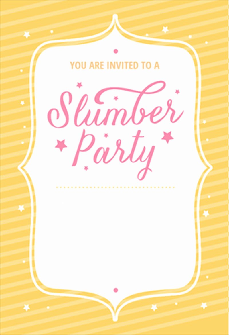 Free Sleepover Invitation Template Inspirational the Best Of Sleepover Invitations