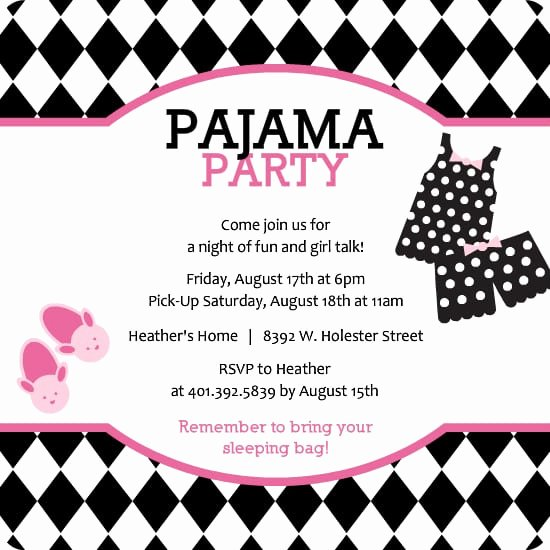 Free Sleepover Invitation Template Lovely Slumber Party Invite Free Printables