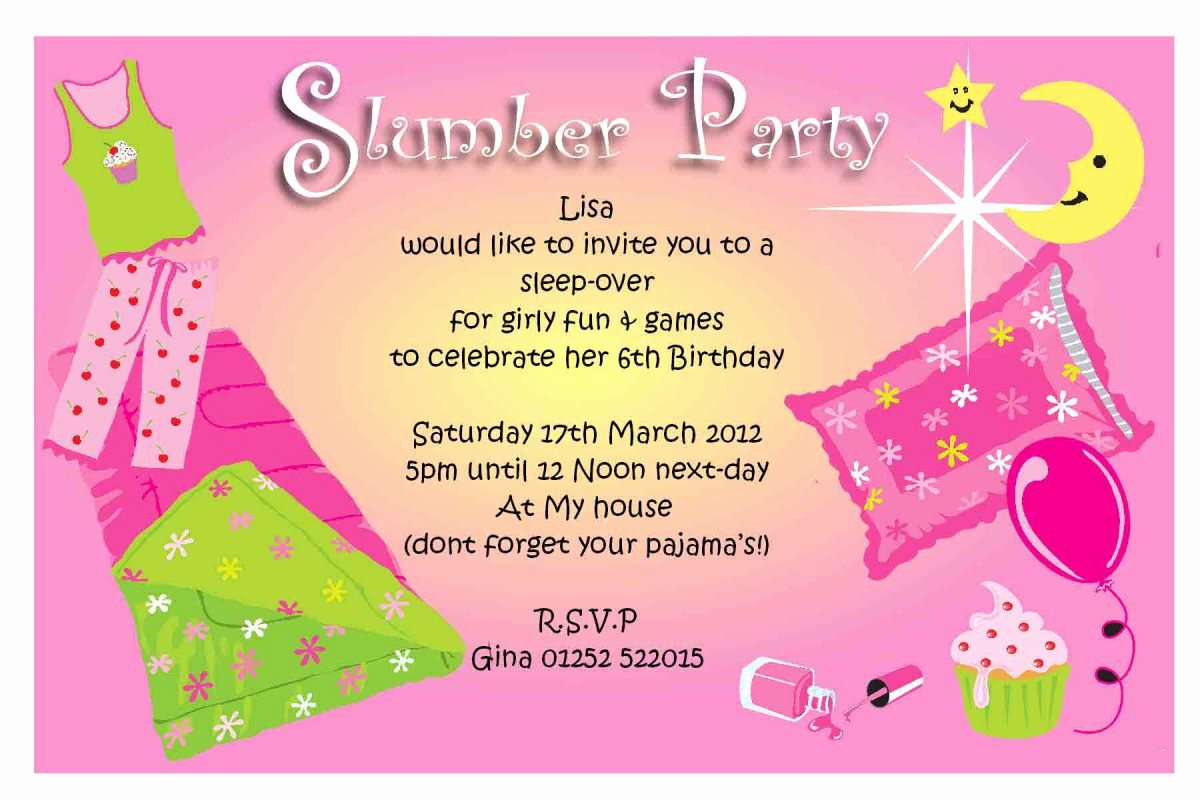 Free Sleepover Invitation Template Luxury Free Sleepover Invitation Templates