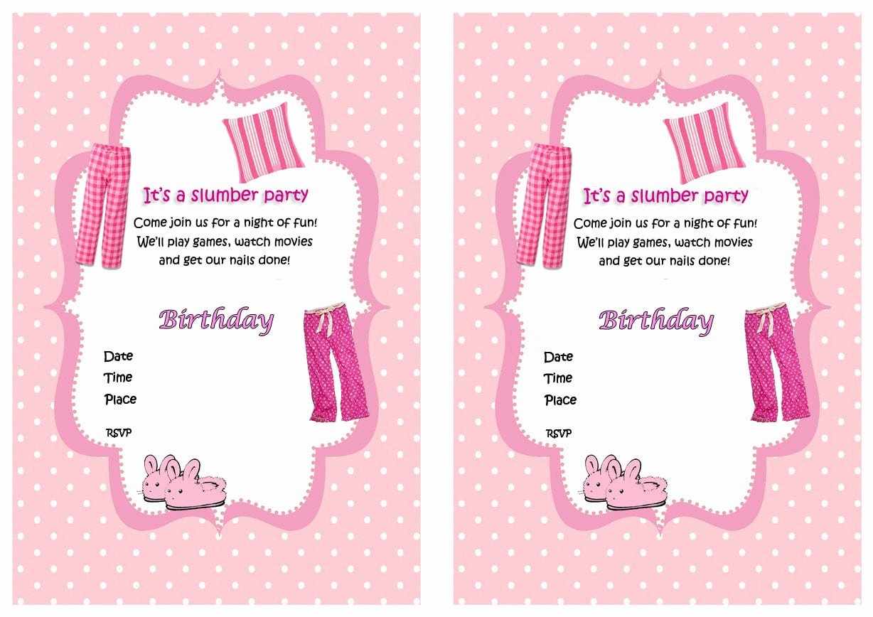 Free Sleepover Invitation Template Unique Free Printable Birthday Sleepover Invitations