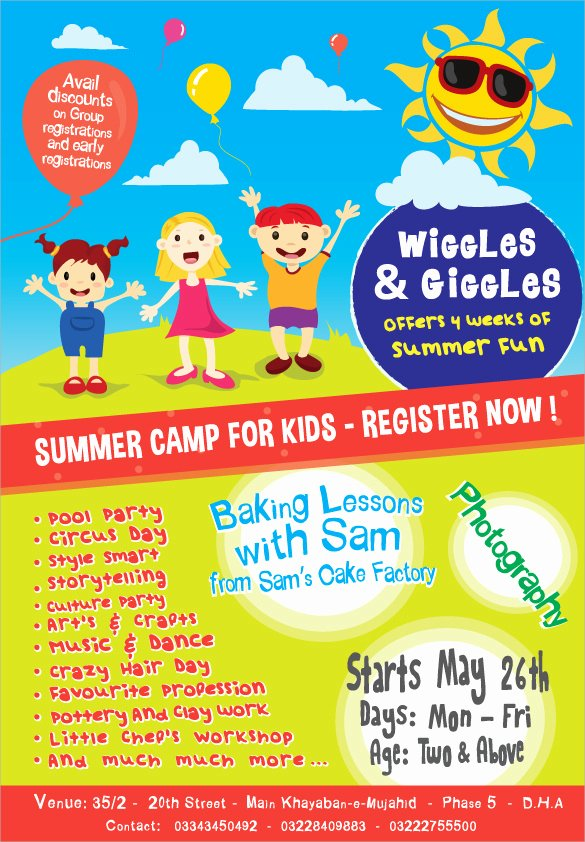 Free Summer Camp Flyer Template Awesome 17 Summer Camp Flyer Templates Word Psd Ai Eps Vector