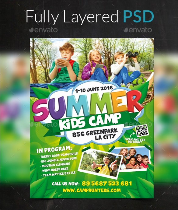 Free Summer Camp Flyer Template Best Of 26 Summer Camp Flyer Templates Word Psd Ai Eps Vector