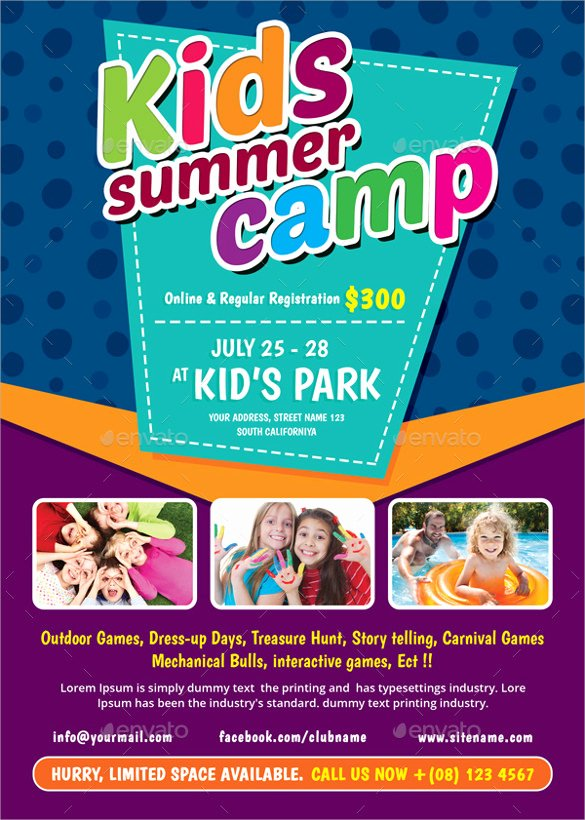 Free Summer Camp Flyer Template Elegant 26 Summer Camp Flyer Templates Word Psd Ai Eps Vector
