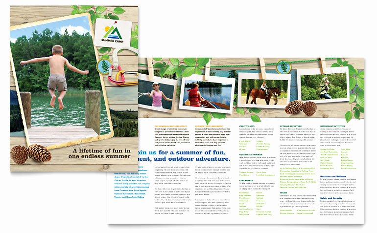 Free Summer Camp Flyer Template Elegant Kids Summer Camp Brochure Template Word & Publisher