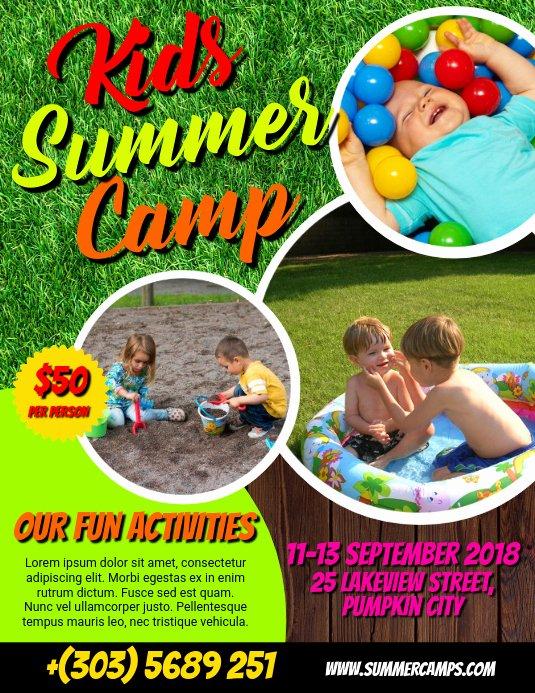 Free Summer Camp Flyer Template Elegant Kids Summer Camp Flyer Template