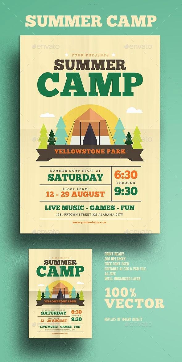 Free Summer Camp Flyer Template Elegant Summer Camp Flyer