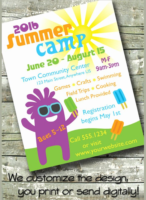 Free Summer Camp Flyer Template Inspirational 17 Summer Camp Flyer Templates Word Psd Ai Eps Vector
