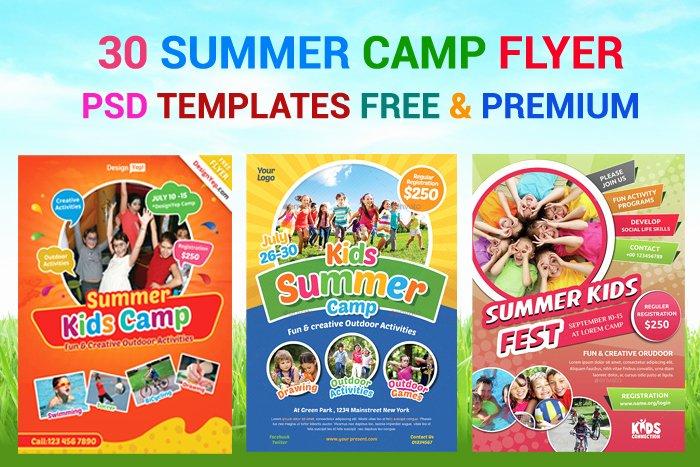 Free Summer Camp Flyer Template New 30 Summer Camp Flyer Psd Templates Free & Premium Designyep