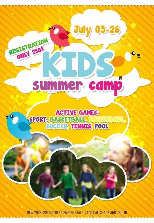 Free Summer Camp Flyer Template New Flyer Template Kids Summer Camp Cover Heroturko Download