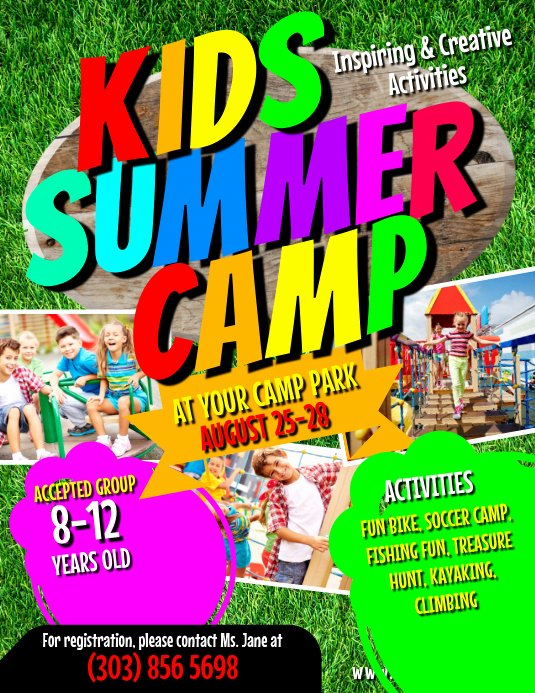 Free Summer Camp Flyer Template Unique Kids Summer Camp Flyer Template