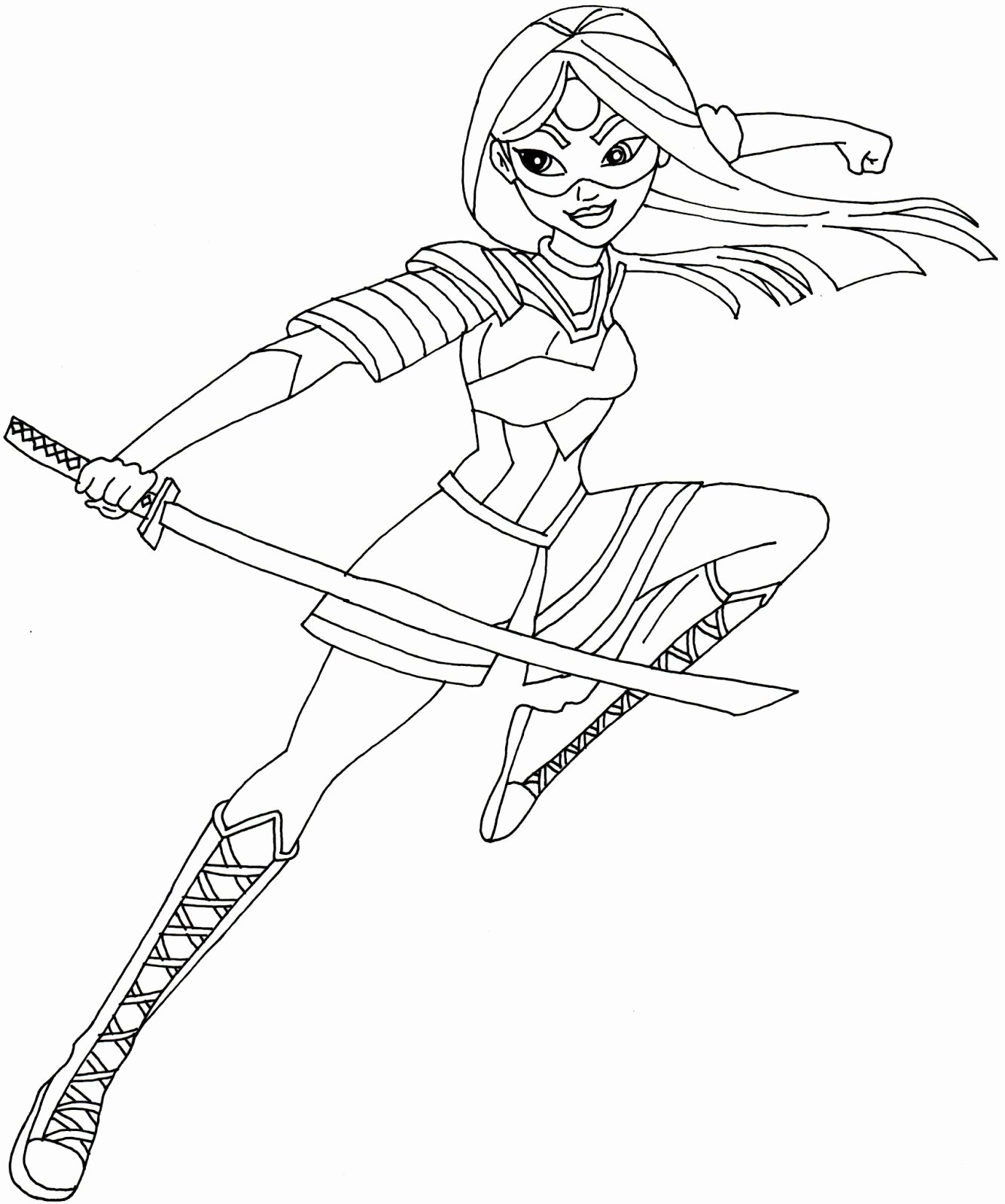 Free Superhero Coloring Pages Awesome Free Printable Super Hero High Coloring Page for Katana E Of My Favorite Actually I Love All