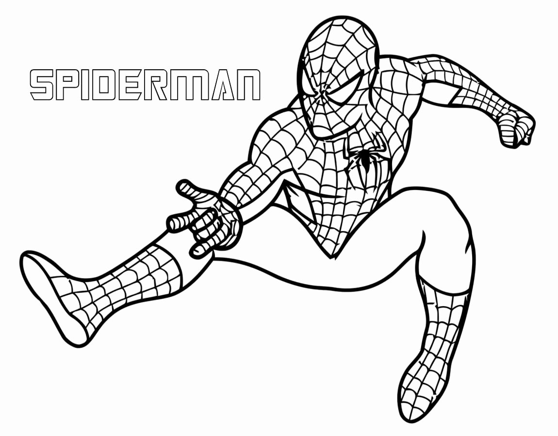 Free Superhero Coloring Pages Inspirational Download Spiderman Superhero Coloring Pages for Free Birthday Idea Pinterest
