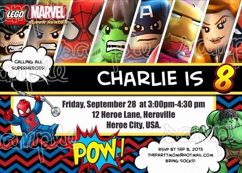 Free Superhero Invitation Template Awesome Superhero Birthday Invitations Templates Free Myles