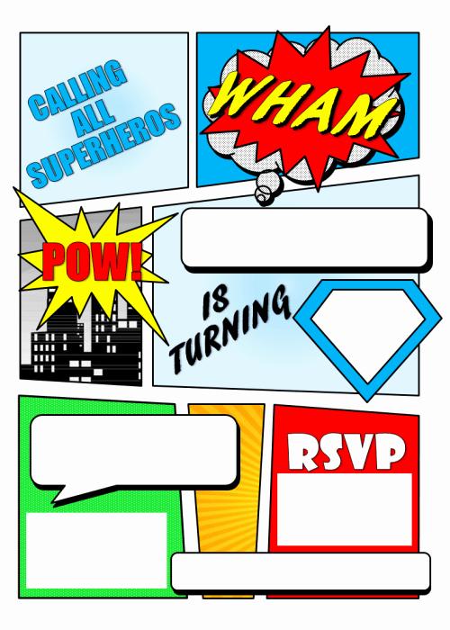 Free Superhero Invitation Template Beautiful 12 Blank Superhero Birthday Invitations Free Invitation Templates Drevio