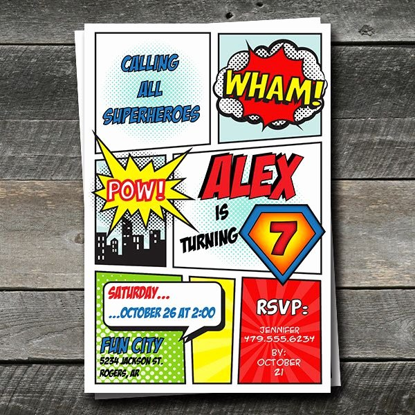 Free Superhero Invitation Template Best Of Pin by Danielle Johnson On Birthday Party In 2019