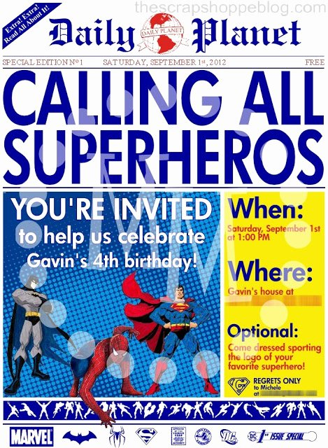 Free Superhero Invitation Template Fresh 40th Birthday Ideas Birthday Invitation Template Superhero
