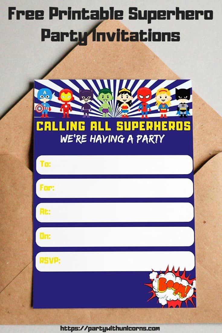 Free Superhero Invitation Template Inspirational Free Printable Superhero Invitations