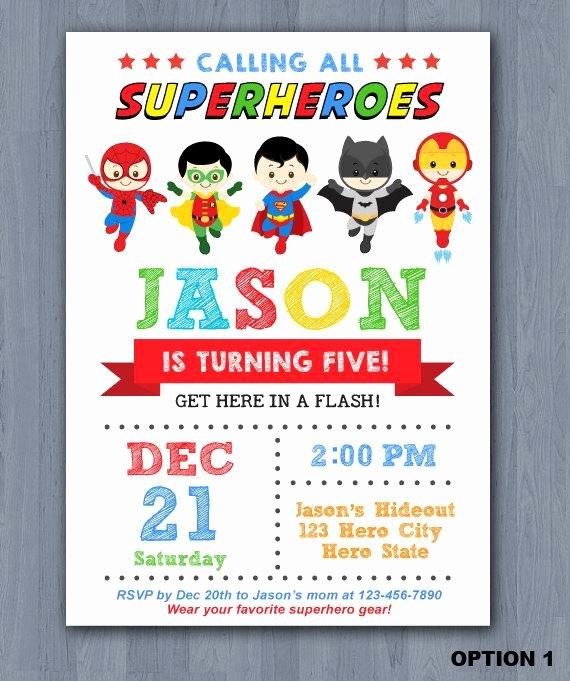 Free Superhero Invitation Template Lovely Superhero Birthday Invitation Superhero Invitation Avengers Invitation