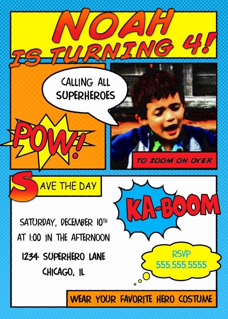 Free Superhero Invitation Template New Free Superhero Invitation Templates