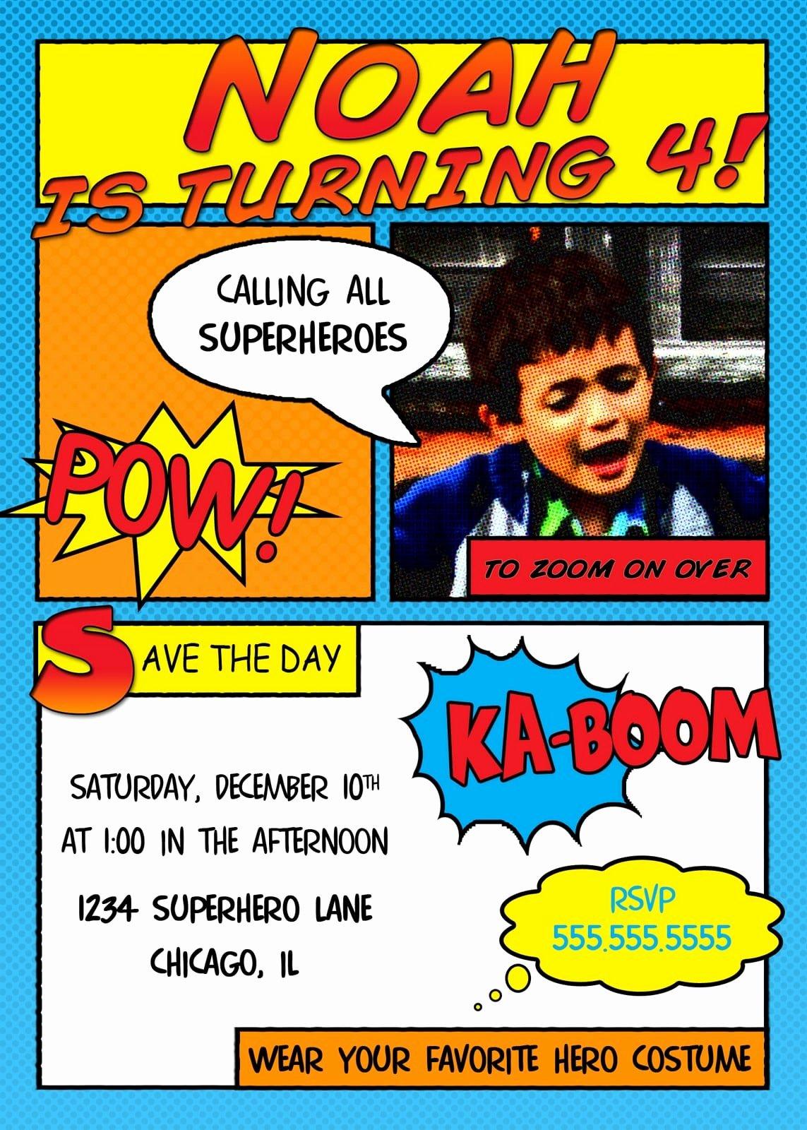Free Superhero Invitation Template Unique Free Superhero Invitation Templates