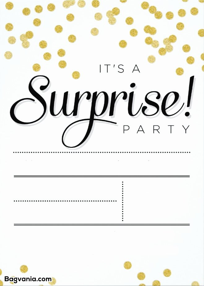 Free Surprise Party Invitations Awesome Free Printable Surprise Birthday Invitations – Free