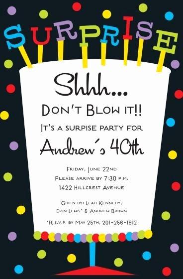 Free Surprise Party Invitations Beautiful Free Printable Surprise Birthday Invitations