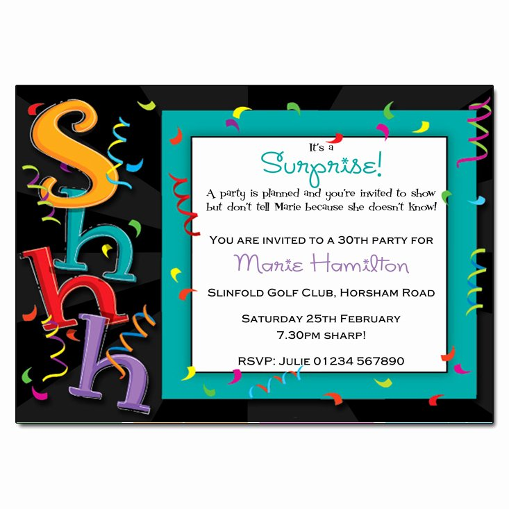 Free Surprise Party Invitations Beautiful Shhhh It S A Surprise Party Invitations